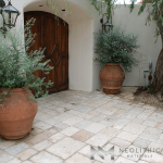 Antique First Biblical Limestone used in outdoor flooring of the house
