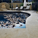 Dalle de France Stone used in the flooring of a classic pool