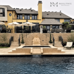 Antique Dalle de France Stone used in the flooring of a classic pool