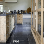 Antique Belgium Bluestone used in flooring on the kitchen room