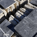 Pile stock of Antique Belgium Bluestone used for flooring, walling and many more