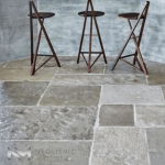 Antique French Limestone used in the flooring of a room