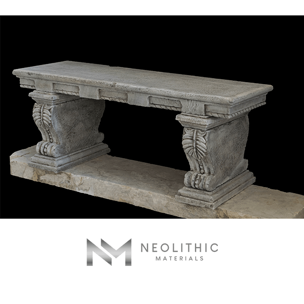 Image of BN-22-c one of the High Quality Reclaimed Stone Benches product of Neolithic Materials