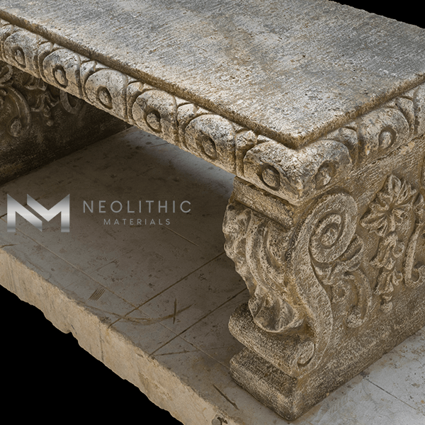 Image of BN-24-e one of the Reclaimed Stone Benches product of Neolithic Materials
