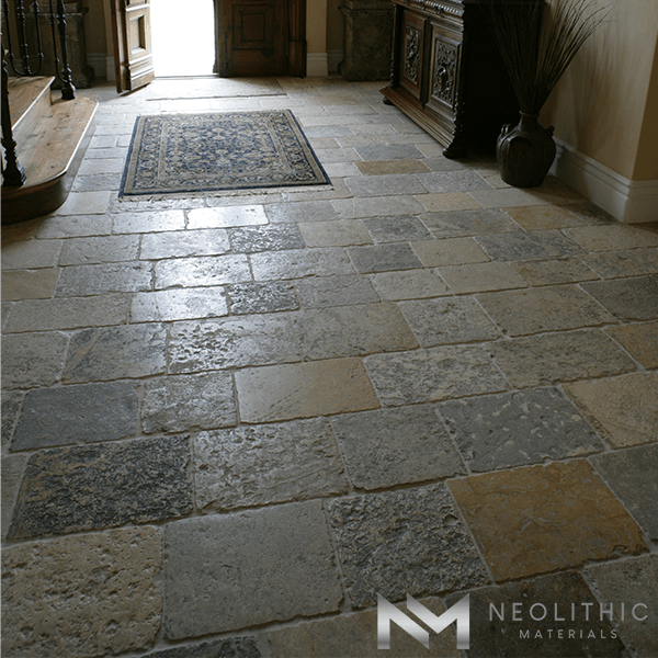 Biblical stone used in the flooring of the hallway