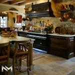 Reclaimed biblical stone used in the flooring of a nice kitchen room