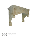 Left side view of CH 851 one of Reclaimed Stone Kitchen Hoods of Neolithic Materials