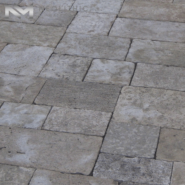 Close up view of Antique Corsica Limestone used in flooring