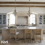 High Quality Reclaimed Corsica Stone used in flooring of a classic kitchen room
