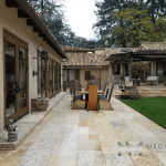 The Best Maltese Limestone used in flooring of an outdoor dining area