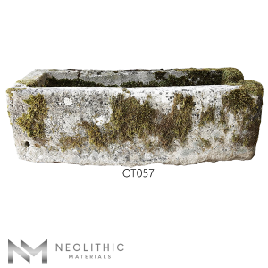 Front view with measurement of OT057 one of Trough Stone Sinks of Neolithic Materials