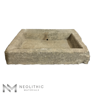 Upper front view of RSK 04 - BU 100 one of Stone Sink of Neolithic Materials