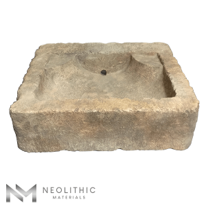 Upper Front view of RSK 67 - BU 100 one of Antique Stone Sinks of Neolithic Materials