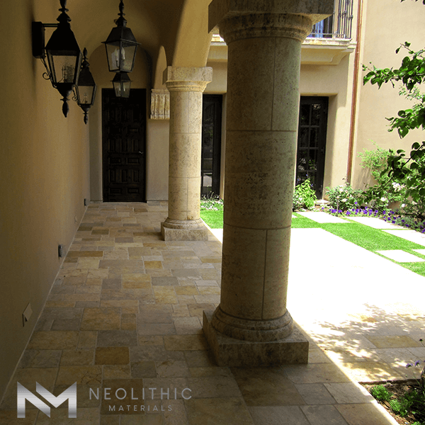 Reclaimed Antediluvian Columns used in a classic house
