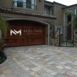 Reclaimed Antediluvian Stone used in outdoor flooring of a house