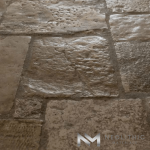 Close up view of Reclaimed Italian Limestone Flooring used in flooring of a house