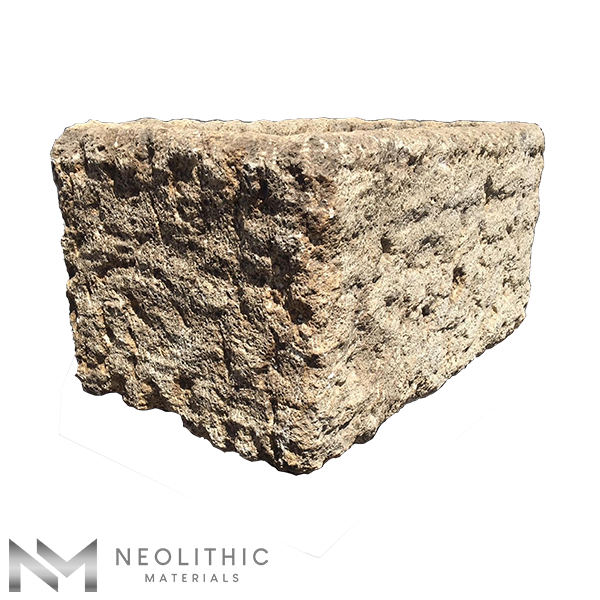 Left side view of TR 03 - BU 104 one of Rectangular Stone Trough Sinks of Neolithic Materials