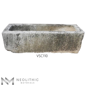 Front view of VSC110 - TR 104 one of Stone Trough Sinks of Neolithic Materials