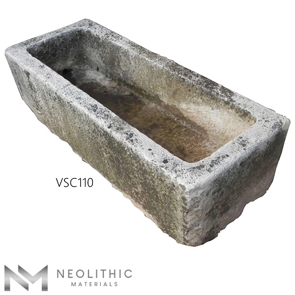 Side view of VSC110 - TR 104 one of Stone Trough Sinks of Neolithic Materials