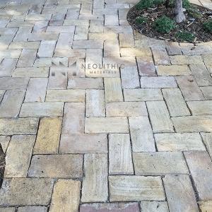 Reclaimed Spanish Terracotta installed as flooring outdoor